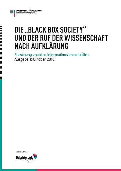 "Die ""Black Box Society"""